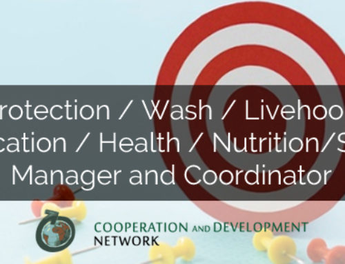 INTERNATIONAL COOPERATION CAREERS: PROTECTION/WASH/LIVEHOOD/EDUCATION/HEALTH/NUTRITION/SGBV MANAGER AND COORDINATOR