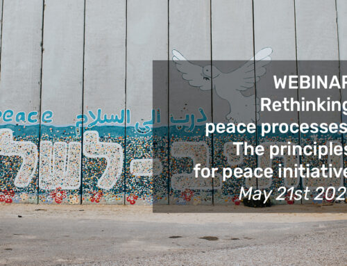 VIDEO of the webinair: Rethinking peace processes, the principles for peace initiative